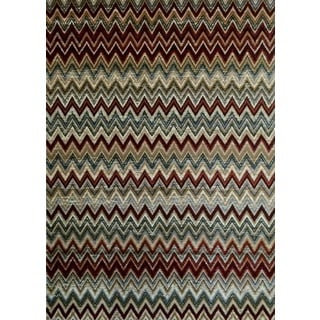 Modern Passion Rust Area Rug (8'x10')