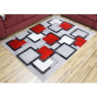 Modern Passion Silver Area Rug (5' x 8')