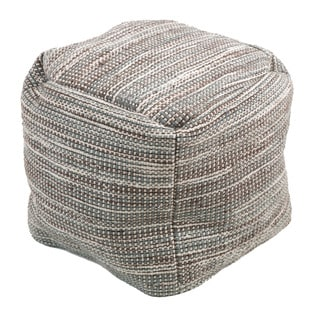 Christopher Knight Home Edon Wool Embroidery Pouf Ottoman
