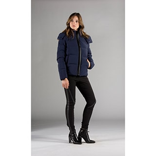 Women's Bonded Seam Moto Down Coat