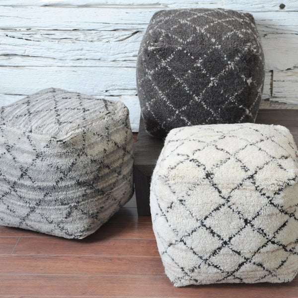 Christopher Knight Home Azara Fabric Pouf