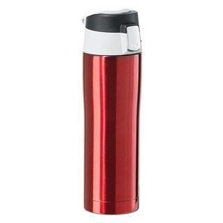 Oggi Stainless Steel Red Travel Mug with Flip-Open Locking Lid