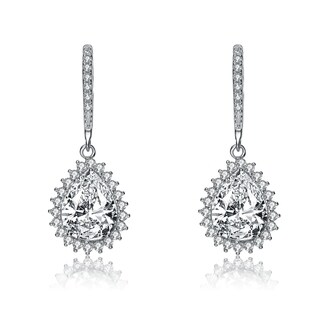 Collette Z Cz pear shape earrings