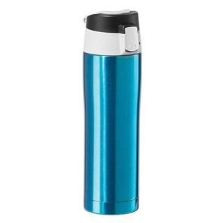 Oggi Stainless Steel Blue Travel Mug with Flip-Open Locking Lid