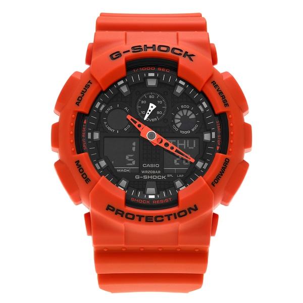 d473369e895d Shop Casio Men s GA100L-4A  G-Shock  Orange Analog Digital Resin ...