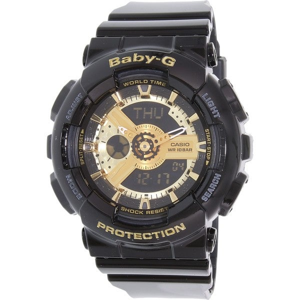 d107149cd23 Shop Casio Women s BA110-1A  Baby-G  Black Analog Digital Dial Resin ...
