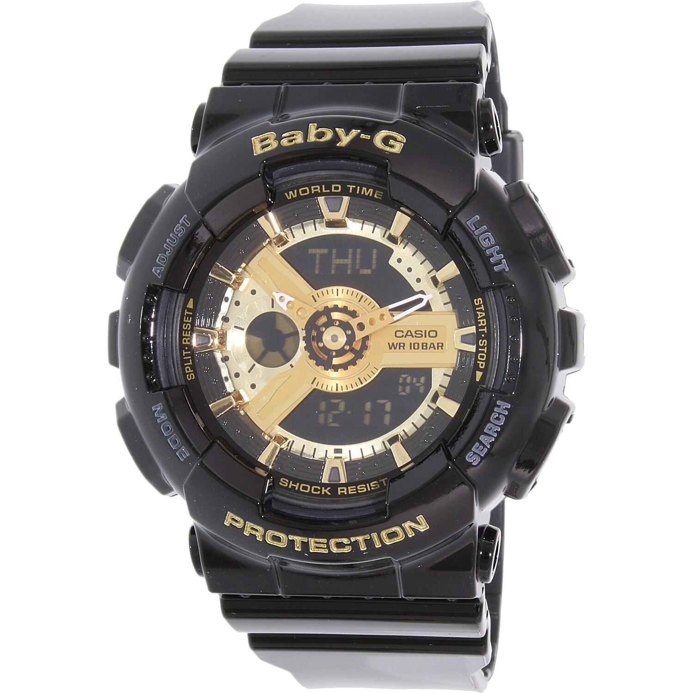 Casio Women's BA110-1A 'Baby-G' Black Analog Digital Dial...