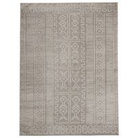 Jasmin Collection Moroccan Trellis Grey and Ivory Area Rug - 5'3 X 7'3