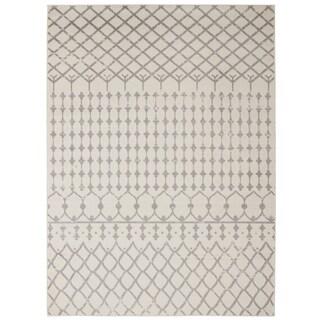 Jasmin Collection Polypropylene Moroccan Trellis Area Rug (5'3 x 7'3)