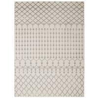 Jasmin Collection Polypropylene Moroccan Trellis Area Rug (5'3 x 7'3) - 5'3 x 7'3