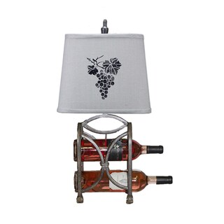Somette Le Bon Vin Wine Rack with Grape Stencil Shade