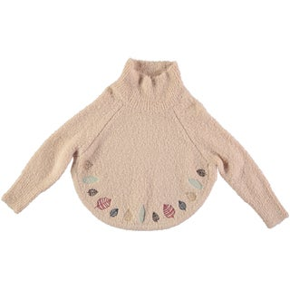 Rockin Baby Girl's Ivory Embroidered Poncho Jumper