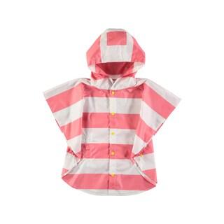 Rockin Baby Girl's Pink Stripe Poncho