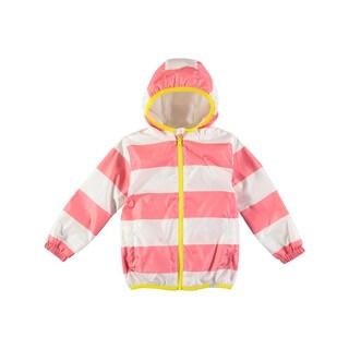 Rockin Baby Girl's Pink Stripe Rain Mac Jacket