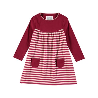 Rockin Baby Girl's Red Stripe Dress