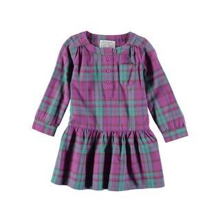 Rockin Baby Girl's Pink Brushed Check Dress