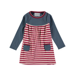 Rockin' Baby Girl's Stripe Dress (Dark Pink)
