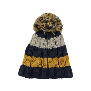 Rockin Baby Boy's Navy Stripe Bobble Hat