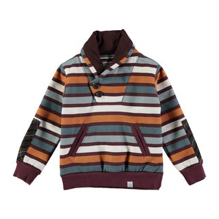 Rockin Baby Boys' Multicolored Striped Sweat Top