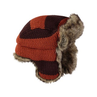 Rockin Baby Boy's Brown and Orange Trapper Hat