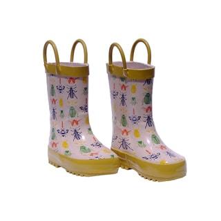Rockin Baby Boy's Stone Bug Print Wellie Boots
