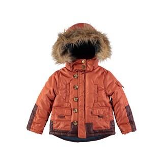 Rockin Baby Boy's Rust Fur Collared Coat