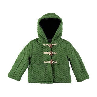Rockin Baby Boy's Green Cotton-blend Quilted Jacket