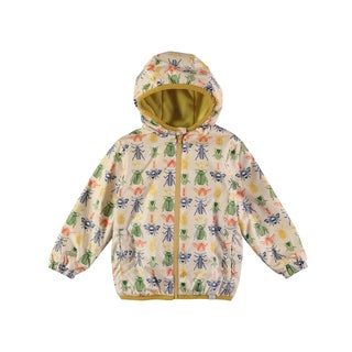 Rockin Baby Boys' Stonecolored Bug-print Rain Mac Jacket