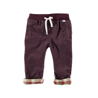 Rockin' Baby Boy's Brown Cotton Cord Drawstring Pant