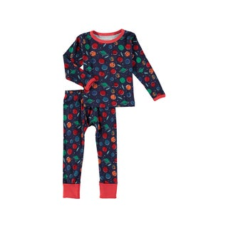 Rockin' Baby Boys' Navy Cotton Space Print Pajama Set