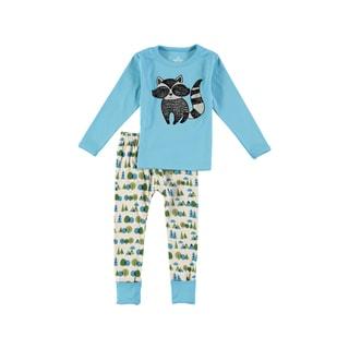 Rockin Baby Boy's Blue Racoon Appique Pajama Set