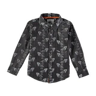 Rockin Baby Boy's Wolf Print Chambray Shirt