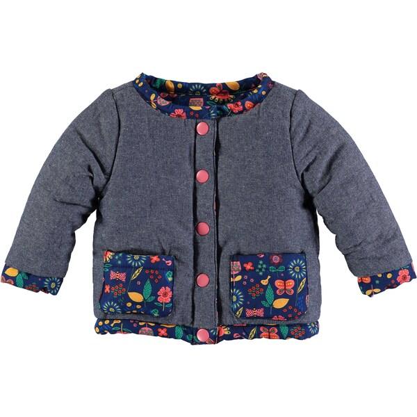 bb775230e15e Shop Rockin Baby Baby Girl Navy Print Reversable Jacket - Free ...
