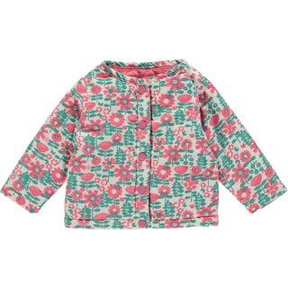 Rockin Baby Baby Girl Flower Print Reversable Jacket