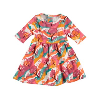 Rockin Baby Girl's Woodland Print Cotton Jersey Dress