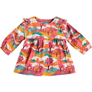 Rockin Baby Baby Girl Woodland Print Jersey Tunic