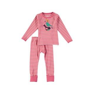 Rockin Baby Girls Pink Cotton Bird Pajama Set