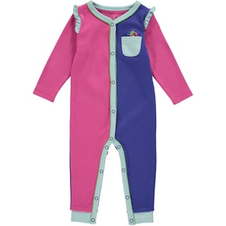 Rockin Baby Baby Girl Pink Colour Block Romper
