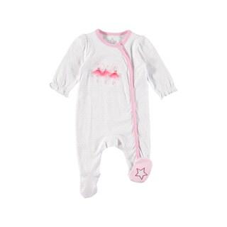 Rockin' Baby Girl's Ballerina Applique Footie (White)