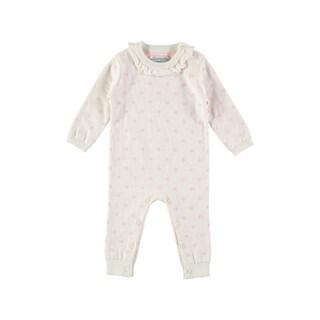 Rockin Baby Baby Girl White Knitted Romper
