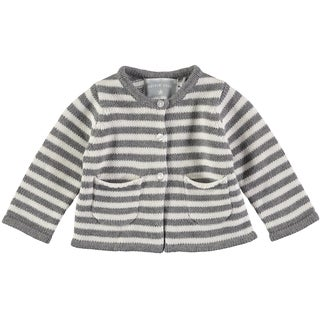 Rockin Baby Baby Boy Grey Stripe Cardie