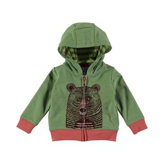 Rockin Baby Baby Boy Bear Face Green Hoody