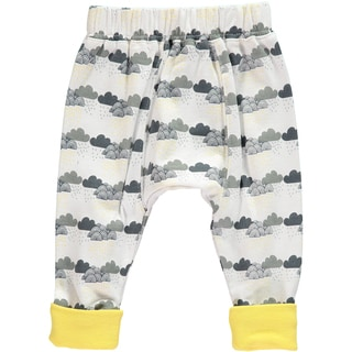 Rockin Baby Boys' White Cotton Cloud Print Legging