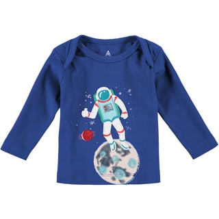 Rockin' Baby Boys' Navy Cotton Astronaught T-shirt