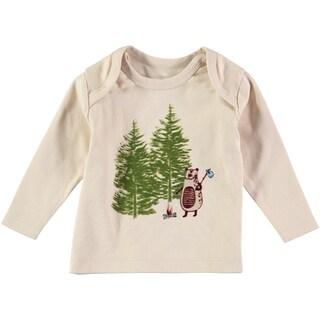 Rockin' Baby Boys' Grey Cotton Forest Scene T-shirt