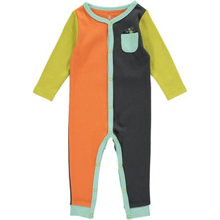 Rockin Baby Baby Boy Bug Colour Block Romper