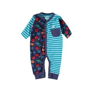 Rockin Baby Baby Boy Navy Space And Stripe Romper