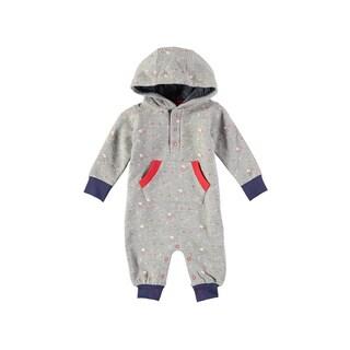 Rockin Baby Baby Boy Grey Star Print Hooded Romper