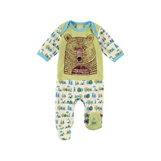 Rockin' Baby Boy's Bear Face Footie (Green)