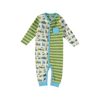 Rockin' Baby Boys' Stone Forest Print Striped Romper